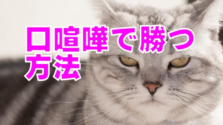 口喧嘩で勝つ方法【イエスバット法】